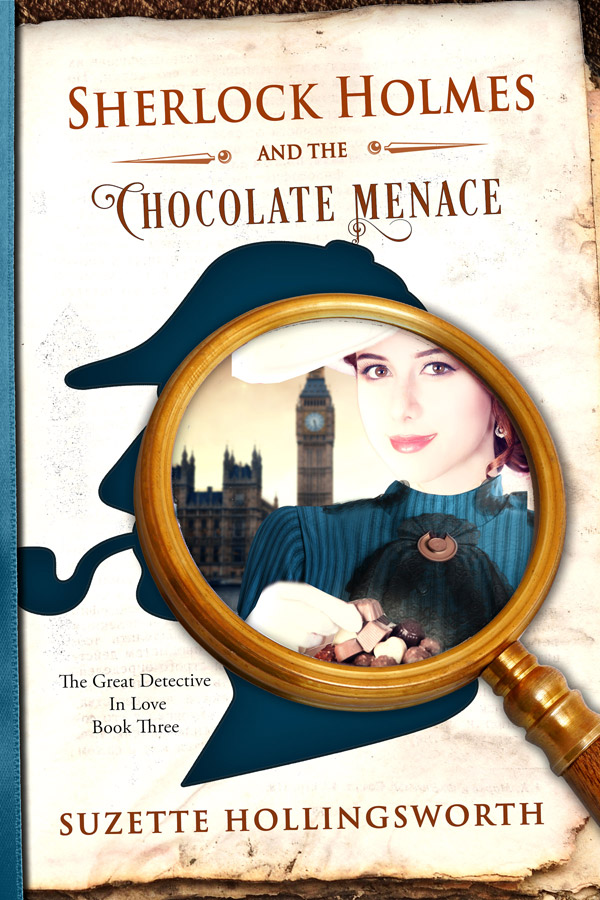 book cover for Sherlock Holmes and the Chocolate Menace